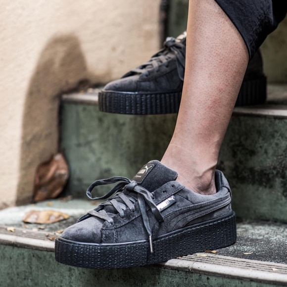 price finest selection buying cheap Fenty X Puma by Rihanna suede gray creepers